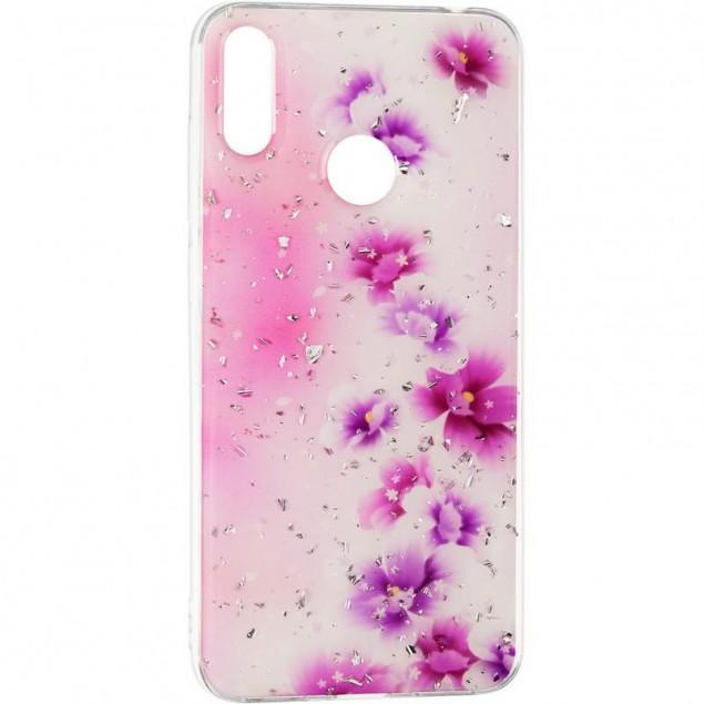 Deep Shine Flowers Case for Samsung A205 (A20) Lilac