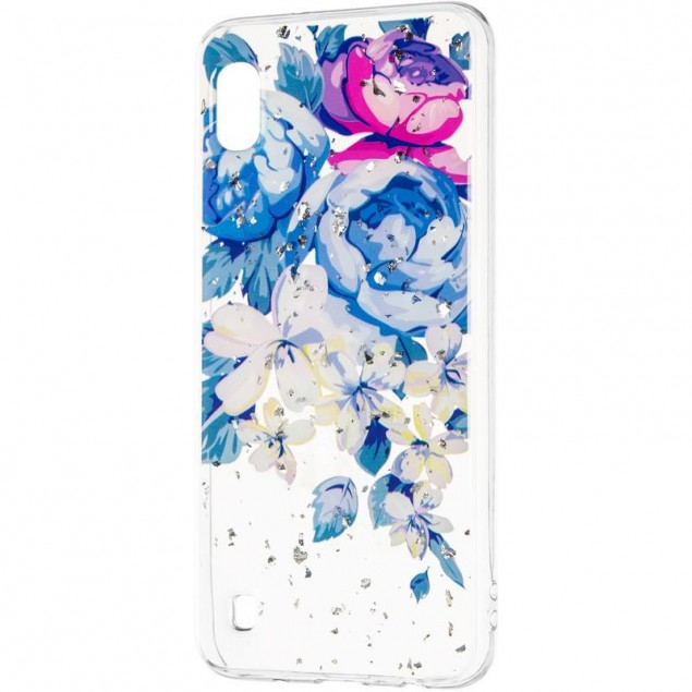 Deep Shine Flowers Case (New) for Samsung A105 (A10) Peony