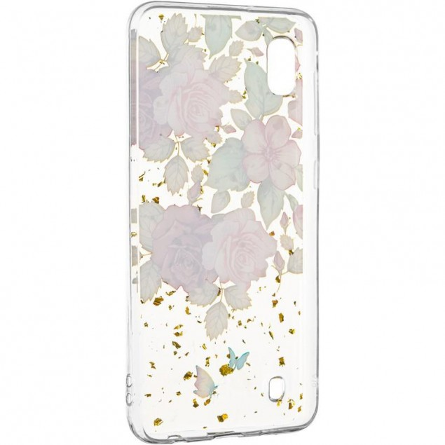 Deep Shine Flowers Case (New) for Samsung A105 (A10) Rose