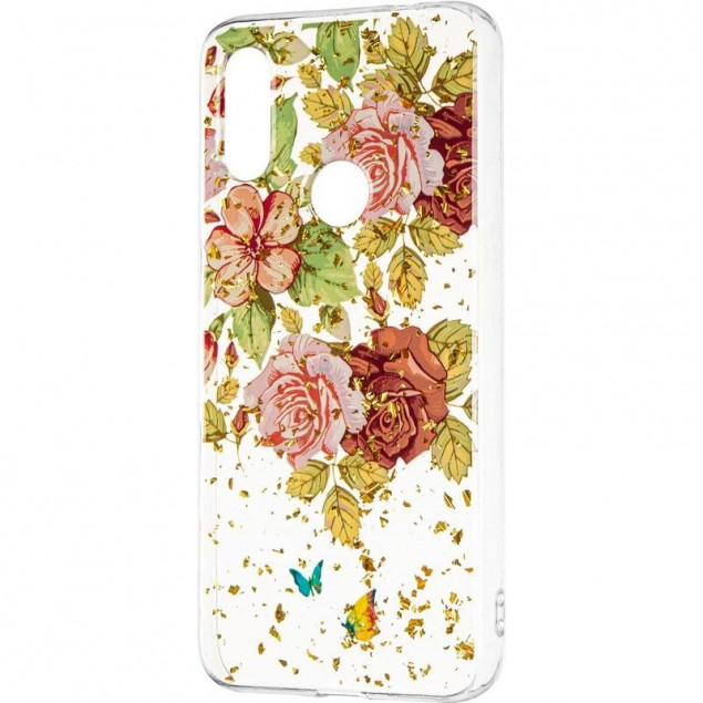 Deep Shine Flowers Case (New) for Xiaomi Redmi 7 Rose