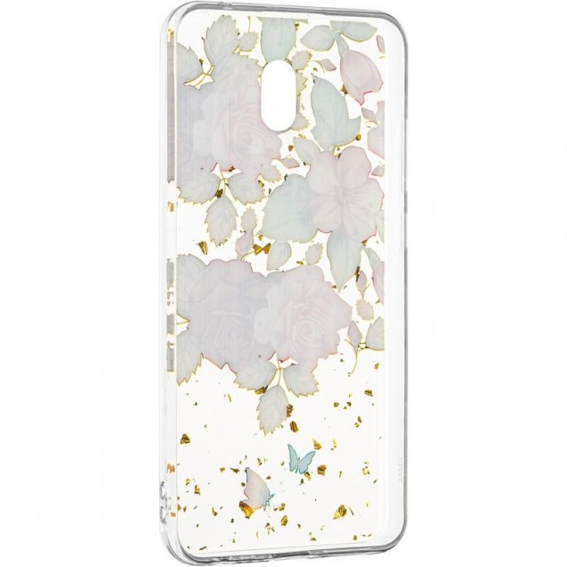 Deep Shine Flowers Case (New) for Xiaomi Redmi 8a Rose