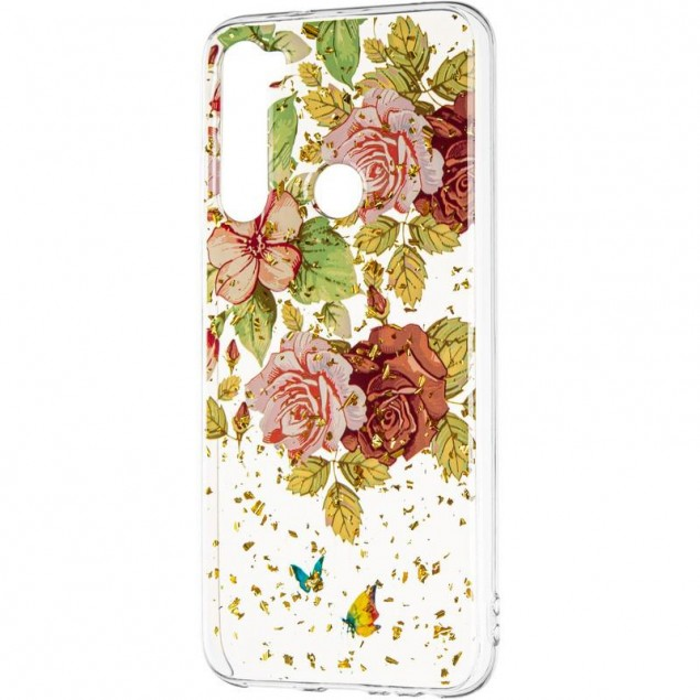 Deep Shine Flowers Case (New) for Xiaomi Redmi Note 8 Rose