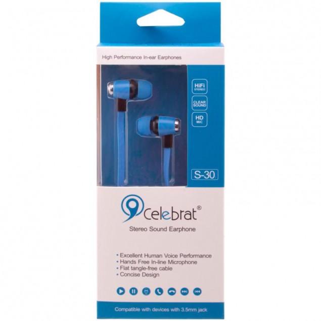 HF MP3 Celebrat S30 Blue + mic + button call answering