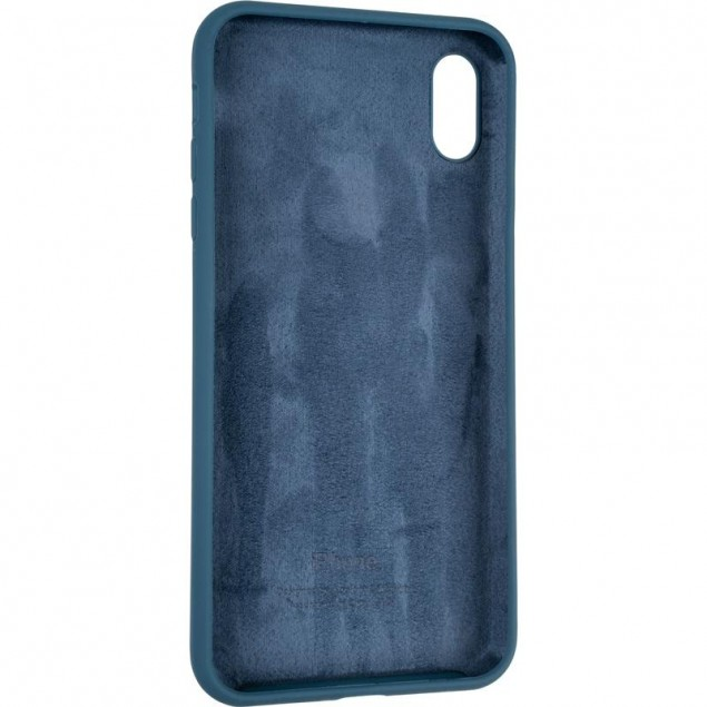 Original Full Soft Case for iPhone XS Max Space Blue