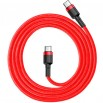 Cable Baseus Cafule Type-C/Type-C (CATKLF-G09) Red 1m