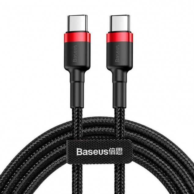 Cable Baseus Cafule Type-C/Type-C (CATKLF-H91) Black/Red 2m