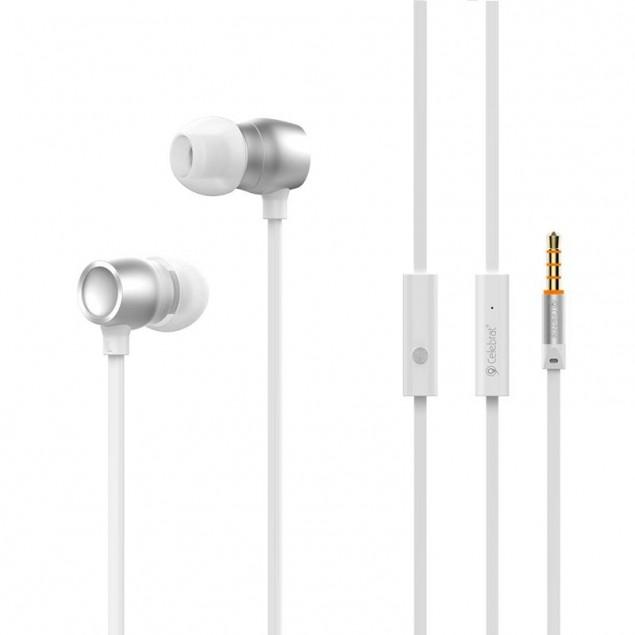 HF MP3 Celebrat N1 White + mic + button call answering