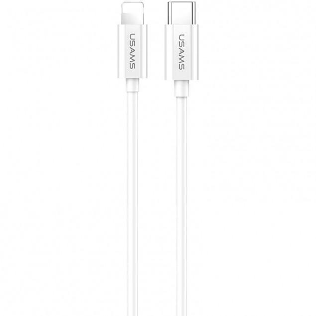 Cable Usams US-SJ407 Fast Charging U44 Type-C -> Lightning Grey 1.2m