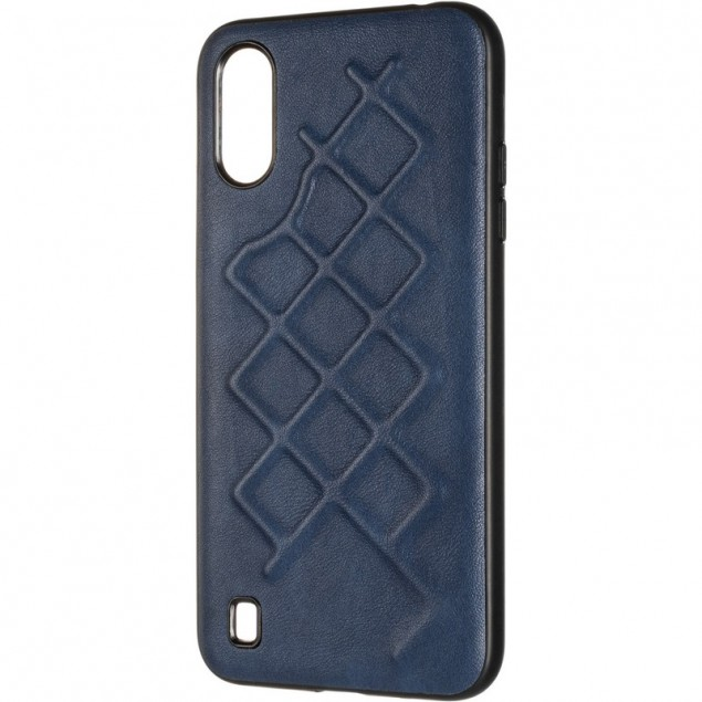 Jesco Leather Case for Samsung A015 (A01) Blue