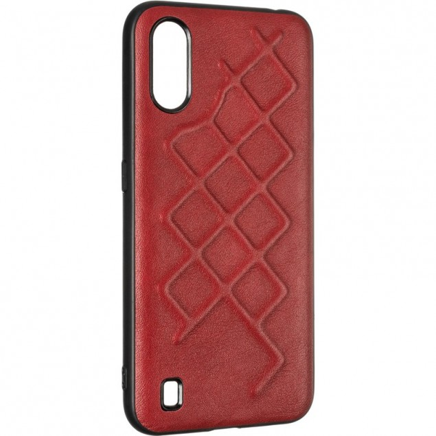 Jesco Leather Case for Samsung A015 (A01) Red