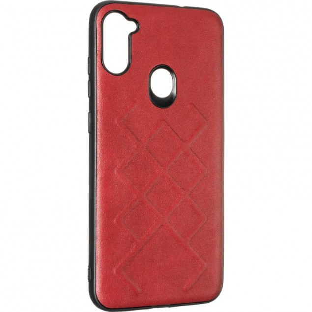 Jesco Leather Case for Samsung A115 (A11) Red