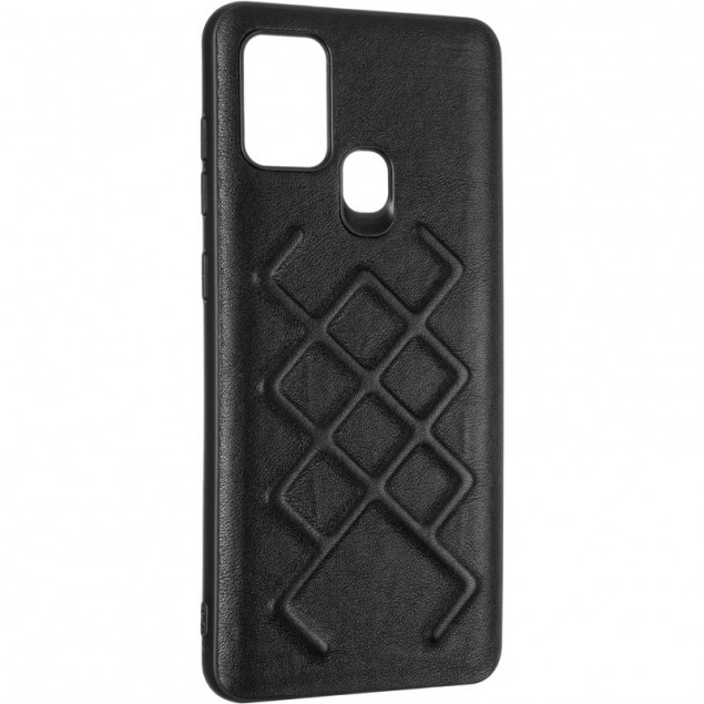 Jesco Leather Case for Samsung A217 (A21s) Black