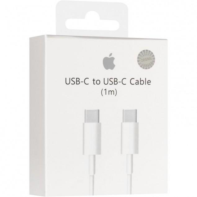 100% Original Cable Type-C to Type-C White 1m (box)