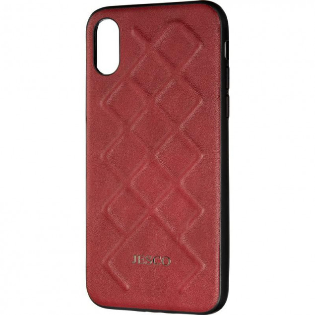 Jesco Leather Case for iPhone X/XS Red