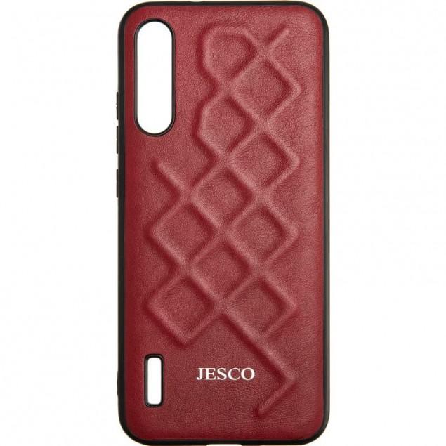 Jesco Leather Case for Xiaomi Mi A3/CC9e Red