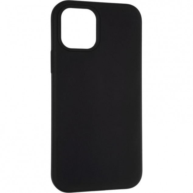 Original Full Soft Case for iPhone 12/12 Pro Black (without logo)