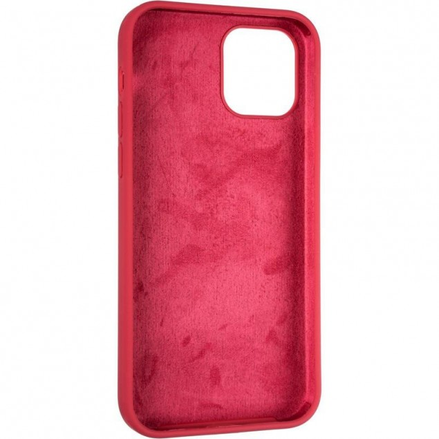 Original Full Soft Case for iPhone 12/12 Pro Garnet (without logo)