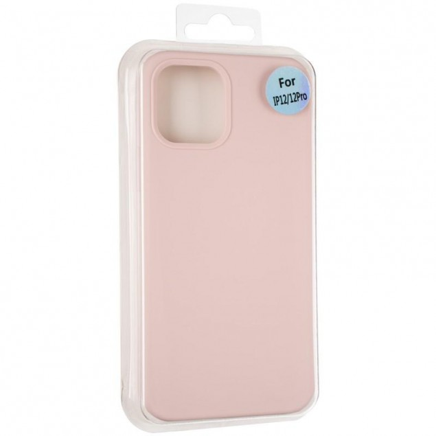 Original Full Soft Case for iPhone 12/12 Pro Pink Sand (without logo)