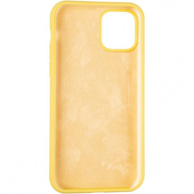 Original Full Soft Case for iPhone 11 Pro Canary Yellow (without logo)