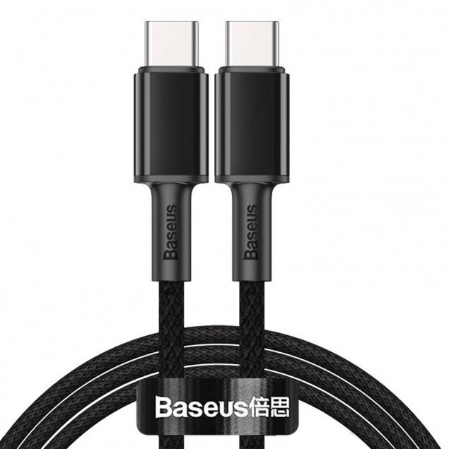 Cable Baseus High Density Braided Type-C/Type-C 100W (CATGD-01) Black 1m