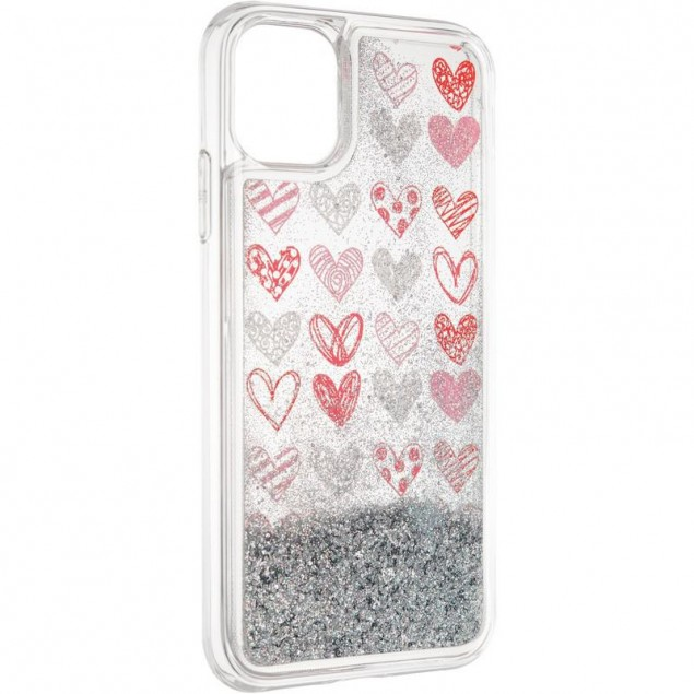 Aqua Case for iPhone 11 Hearts