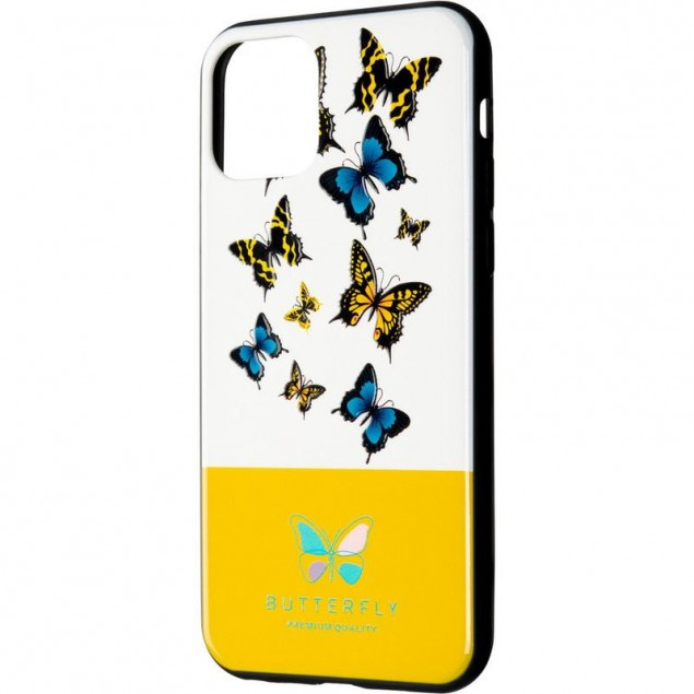 Butterfly Case for iPhone XS Yellow