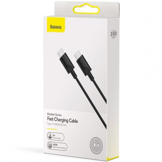 Cable Baseus Xiaobai Series Type-C/Type-C (CATSW-D01) Black 1.5m