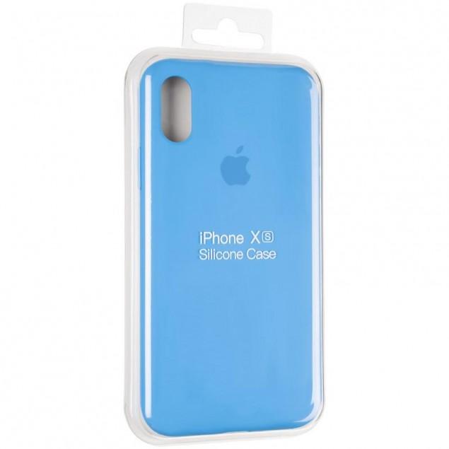 Original Full Soft Case for iPhone X/XS Marine Blue