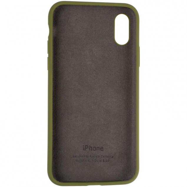 Original Full Soft Case for iPhone X/XS Pinery Green