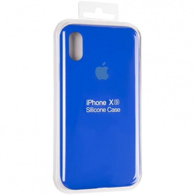 Original Full Soft Case for iPhone X/XS Sapphire Blue