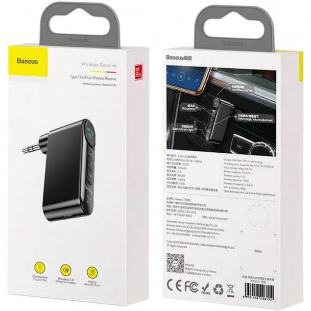 FM Modulator Baseus Qiyin AUX Car Bluetooth Receiver (WXQY-01) Black