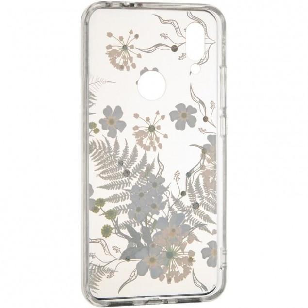 Diamond Silicon Younicou (New) Samsung A105 (A10) Blue Flowers