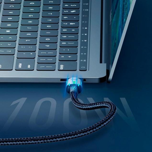 Cable Baseus Zinc Magnetic Type-C/Type-C (CATXC-K01) Black 1.2m