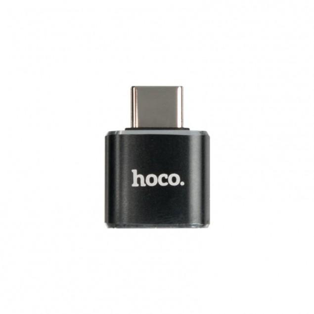 Adapter Hoco UA5 Type-C -> USB Black