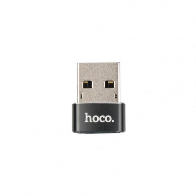 Adapter Hoco UA6 USB -> Type-C Black