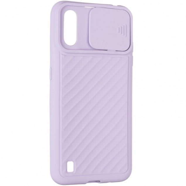 Carbon Camera Air Case for Samsung A015 (A01) Violet