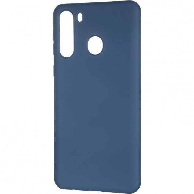 Full Soft Case for Samsung A215 (A21) Blue