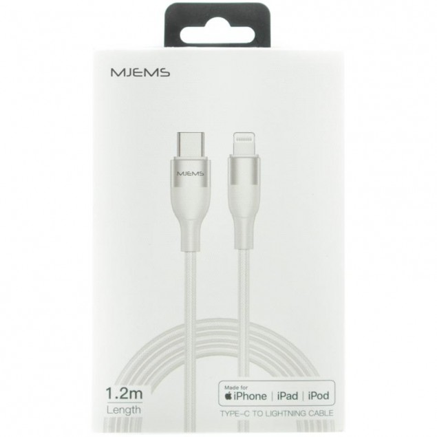 Cable Usams US-SJ330 Type-C -> Lightning White 1.2m