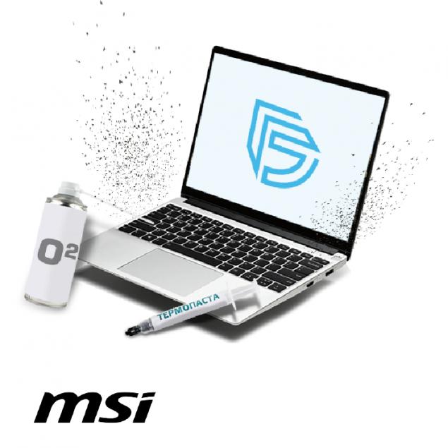 Аппаратная профилактика ноутбука MSI