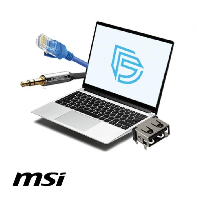 Замена разъемов USB, LAN, Audio в ноутбуке MSI