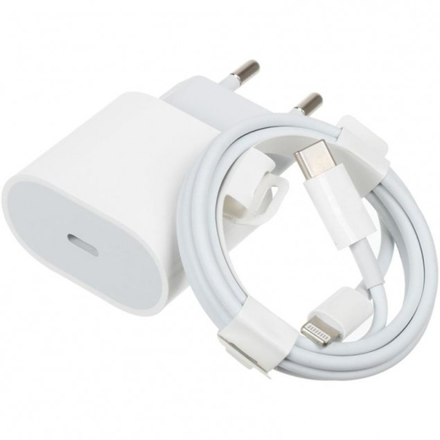99% Original Charger Type-C 18W + Cable Type-C to Lightning (MU7V2ZM/A) (box)