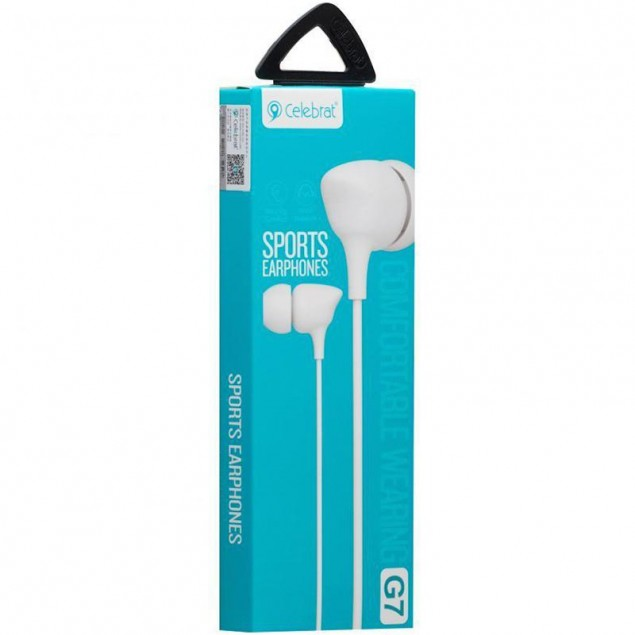 HF MP3 Celebrat G7 White + mic + button call answering