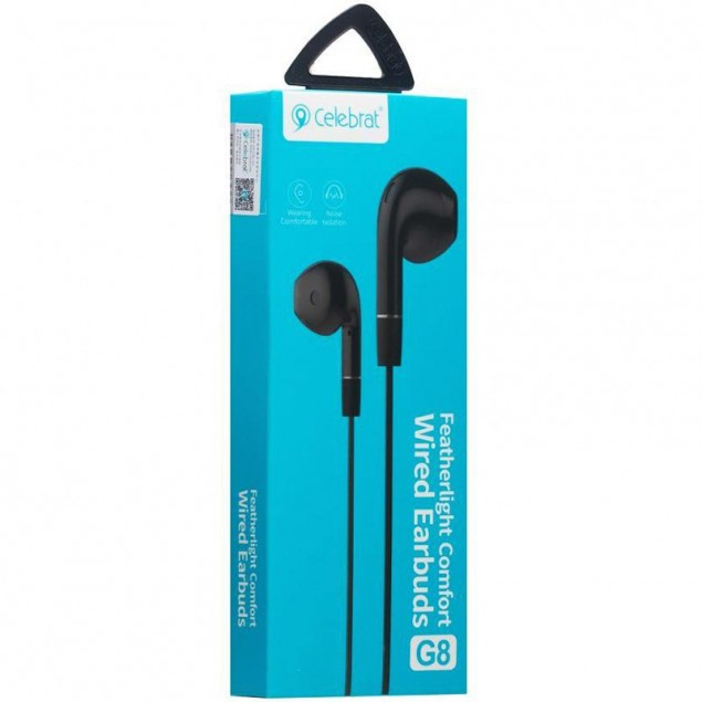 HF MP3 Celebrat G8 Black + mic + button call answering