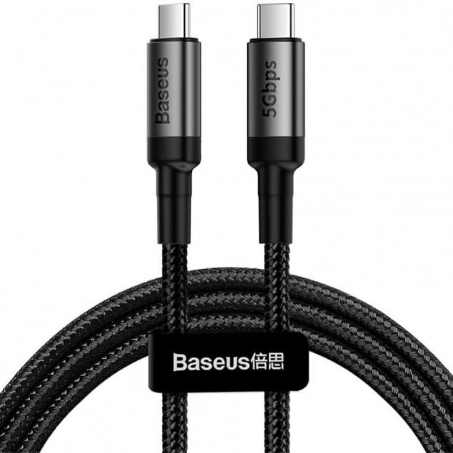 Cable Baseus Cafule Type-C/Type-C (CATKLF-GG1) Black 1m