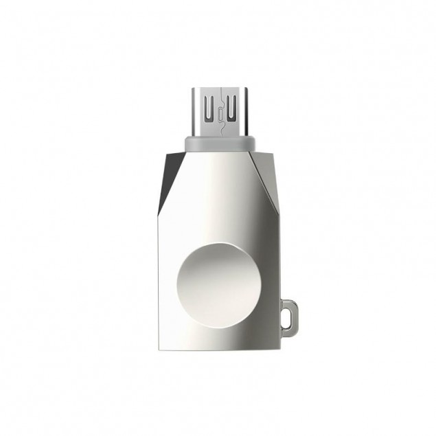 Adapter Hoco UA10 MicroUSB -> USB OTG Pearl Nickel