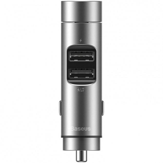 FM Modulator Baseus Energy Column MP3 Charger 2USB 3.1A (CCNLZ-0G) Grey
