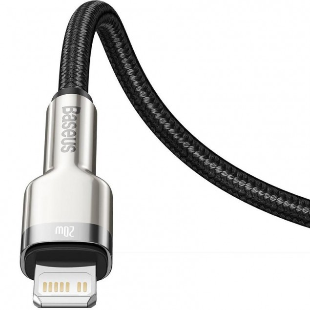 Cable Baseus Cafule Metal Type-C to Lightning PD 20W (CATLJK-A01) Black 1m