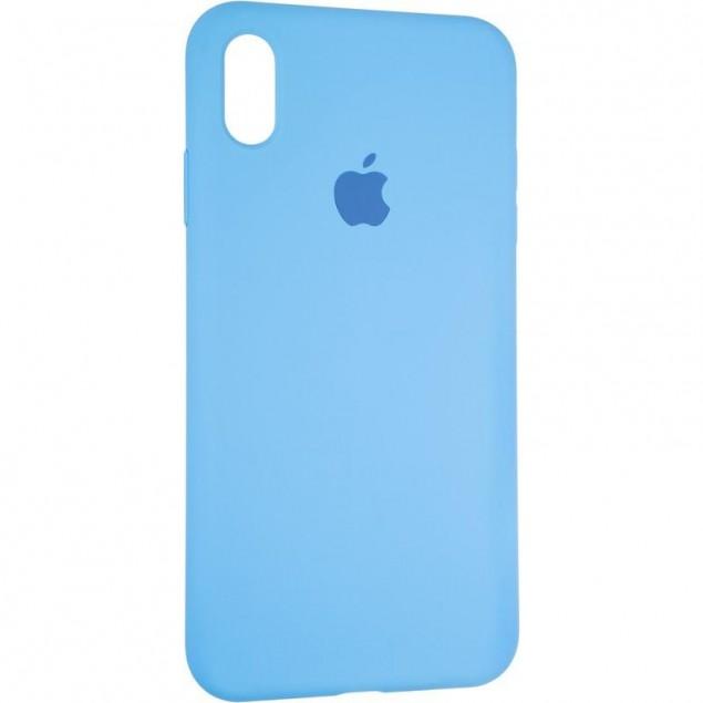 Original Full Soft Case for iPhone XS Max Marine Blue