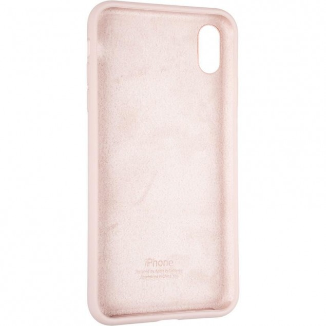 Original Full Soft Case for iPhone XS Max Pink Sand