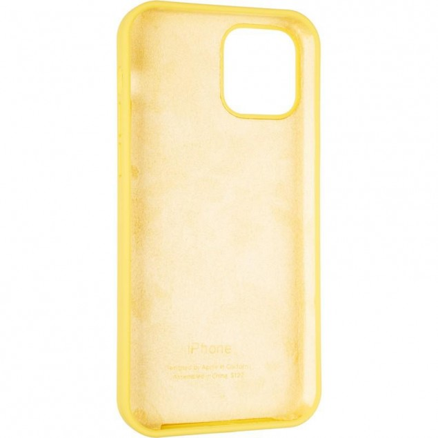 Original Full Soft Case for iPhone 12/12 Pro Canary Yellow